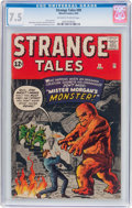 Silver Age (1956-1969):Science Fiction, Strange Tales #99 (Marvel, 1962) CGC VF- 7.5 Off-white to whitepages....