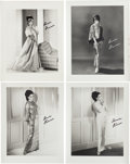 Music Memorabilia:Photos, A Connie Francis Group of Signed Black and White Photographs, Circa1966.... (Total: 4 Items)