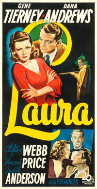 "Laura (20th Century Fox, 1944). Three Sheet (41"" X 79.5"")"