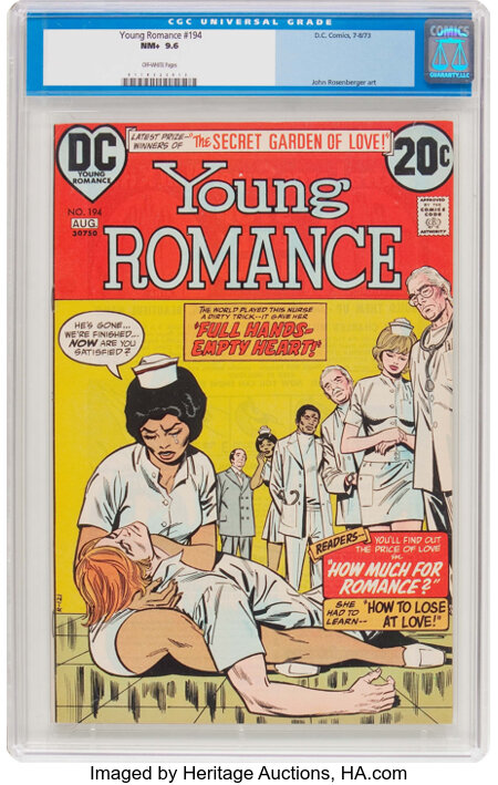Young Romance #194 (DC, 1973) CGC NM+ 9.6 Off-white pages....