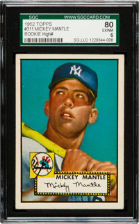 1952 Topps Mickey Mantle #311 SGC 80 EX/NM 6