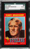 Football Cards:Singles (1970-Now), 1971 Topps Terry Bradshaw #156 SGC 88 NM/MT 8....