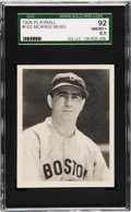 Baseball Cards:Singles (1930-1939), 1939 Play Ball Morris Berg #103 SGC 92 NM/MT+ 8.5....
