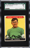 Football Cards:Singles (Pre-1950), 1933 Sport Kings Jim Thorpe #6 SGC 40 VG 3....