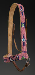 American Indian Art:Beadwork and Quillwork, A Sioux Beaded Hide Headstall...