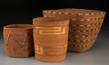 American Indian Art:Baskets, Three Northwest Coast Imbricated Baskets. ... (Total: 3 Items)