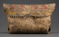American Indian Art:Pipes, Tools, and Weapons, A Sioux Painted Buffalo Parfleche Case...