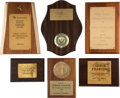Music Memorabilia:Awards, A Connie Francis Group of Awards, 1950s-1960s.... (Total: 6 Items)