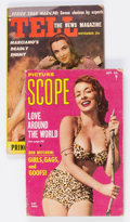 Magazines:Miscellaneous, Picture Scope/Tell Men's Digest Magazines Group of 2 (VariousPublishers, 1950s).... (Total: 2 Items)