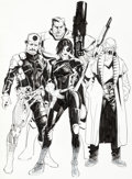 Original Comic Art:Covers, Kalman Andrasofszky Cable and X-Force #6 Partial Variant Cover Original Art (Marvel, 2013)....