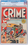Golden Age (1938-1955):Crime, Crime Does Not Pay #26 (Lev Gleason, 1943) CGC FN+ 6.5 Off-white to white pages....