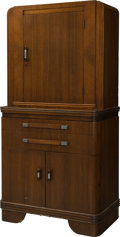 Furniture : Continental, Art Deco Cabinet . Circa 1930. Ht. 59-1/4 x 29-3/4 x 16-1/4 in.. ...