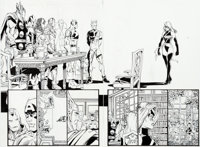 George Pérez and Al Vey Avengers V3#7 Double-Page Spread Pages 2-3 Original Art (Marvel, 1998)