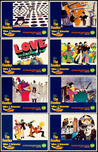 "Yellow Submarine (United Artists, 1968). Lobby Card Set of 8 (11"" X 14"") Heinz Edelmann Artwork. ... (Total: 8..."