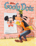 Original Comic Art:Covers, Norm McGary (attributed) Goofy Dots Activity Book CoverPainting Original Art (Whitman, 1956)....