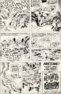 Original Comic Art:Panel Pages, Jack Kirby and D. Bruce Berry Kamandi, the Last Boy on Earth#25 Page 20 Original Art (DC, 1975)....