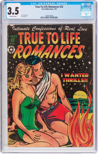 True-To-Life Romances #22 (Star Publications, 1954) CGC VG- 3.5 Off-white pages