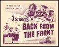 "Movie Posters:Comedy, The Three Stooges in Back from the Front (Columbia, 1943). TitleLobby Card (11"" X 14"").. ..."