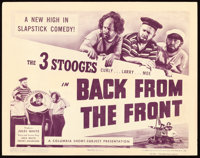 """The Three Stooges in Back from the Front (Columbia, 1943). Title Lobby Card (11"""" X 14"""")"""