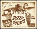 "Movie Posters:Comedy, The Three Stooges in Dizzy Pilots (Columbia, 1943). Title LobbyCard (11"" X 14"").. ..."
