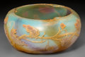 Art Glass, Large Daum Partial Gilt Acid-Etched Opalescent Glass AutumnBowl. Circa 1910. Engraved Daum, Nancy, (Cross o...
