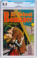 Golden Age (1938-1955):Romance, Hi-School Romance #24 File Copy (Harvey, 1953) CGC VF+ 8.5 Lighttan to off-white pages....