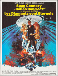 "Diamonds are Forever (United Artists, 1971). French Affiche (23.5"" X 31.5""). Robert McGinnis Artwork. James Bo..."