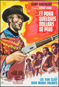 """For a Few Dollars More (P.E.A., 1966). French Affiche (22.75"""" X 32.75"""") Western"""