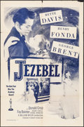 "Movie Posters:Drama, Jezebel (Dominant Pictures, R-1956). One Sheet (27"" X 41""). Drama....."