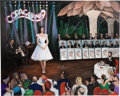 """Music Memorabilia:Original Art, A Connie Francis-Owned Over-Sized Acrylic Painting by Yaacov Heller Titled """"Connie Francis at the Copa,"""" Circa 1990s...."""