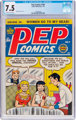 Pep Comics #104 (Archie, 1954) CGC VF- 7.5 Off-white to white pages