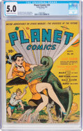 Golden Age (1938-1955):Science Fiction, Planet Comics #20 (Fiction House, 1942) CGC VG/FN 5.0 Off-white towhite pages....