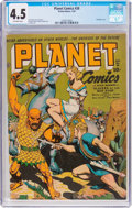 Golden Age (1938-1955):Science Fiction, Planet Comics #28 (Fiction House, 1944) CGC VG+ 4.5 Off-whitepages....