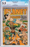 Golden Age (1938-1955):Science Fiction, Planet Comics #31 (Fiction House, 1944) CGC FN- 5.5 Cream tooff-white pages....