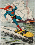 Memorabilia:Superhero, Superman 500-Piece Puzzle #1516 Complete with Original Box (DC/Saalfield, 1940)....