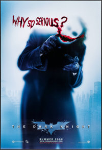"""The Dark Knight (Warner Brothers, 2008). One Sheet (27"""" X 40"""") DS Advance Style A. Action"""