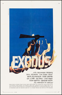 "Exodus (United Artists, 1960). One Sheet (27"" X 41""). Drama"