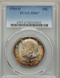Kennedy Half Dollars, 1964-D 50C MS67 PCGS. PCGS Population: (60/1). NGC Census: (15/0).Mintage 156,205,440. ...