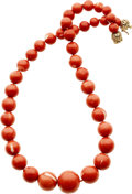 Estate Jewelry:Necklaces, Coral, Gold Necklace . ...