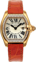 Estate Jewelry:Watches, Cartier Lady's Diamond, Gold Roadster Watch. ...