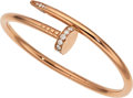 Estate Jewelry:Bracelets, Diamond, Rose Gold Bracelet, Cartier . ...
