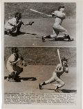 Baseball Collectibles:Photos, 1961 Roger Maris and Mickey Mantle Wire Photographs....