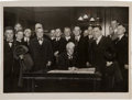 Baseball Collectibles:Photos, 1920 Kenesaw Mountain Landis, Connie Mack, Charles Ebbets, andOthers Wire Photograph....