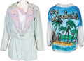 Music Memorabilia:Costumes, A Connie Francis Group of Bedazzled Clothing, 1980s.... (Total: 4Items)