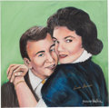 "Music Memorabilia:Original Art, A Connie Francis-Owned Acrylic Painting by Yaacov Heller Titled""The Lovers,"" Circa 1990s...."