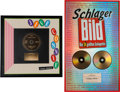 Music Memorabilia:Awards, A Connie Francis Pair of German Record Awards, 1990s.... (Total: 2Items)