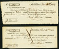 Colonial Notes:Massachusetts, War of 1812 Militia Services Middleboro/Middleborough, MA $9 Dec.1814 Two Examples. ... (Total: 2 notes)