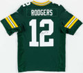 Football Collectibles:Uniforms, Aaron Rodgers Signed Green Bay Packers Jersey....