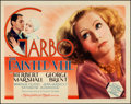 "Movie Posters:Romance, The Painted Veil (MGM, 1934). Title Lobby Card (11"" X 14"").. ..."