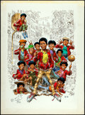 "Movie Posters:Drama, The Wanderers by Jack Davis (Orion, 1979). Original Pen &Watercolor Art (14.75"" X 20""). Drama.. ..."